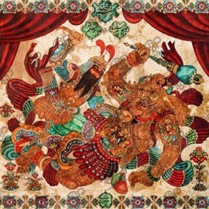 نقاشی قهوه خانه ای شاهنامه