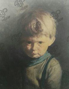 تابلو نقاشی پسر گریان