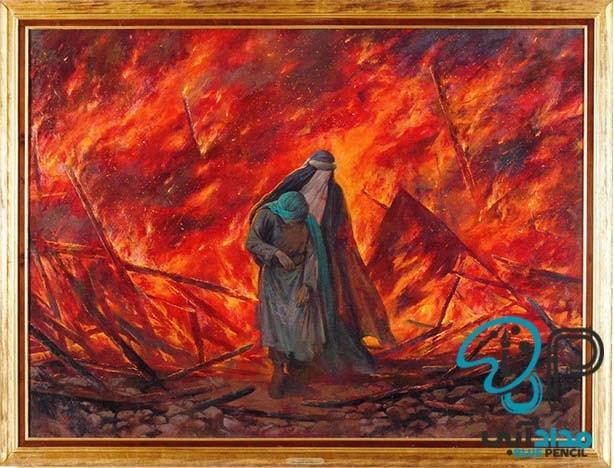 تابلو رنگ روغن امام حسین