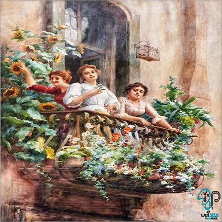 تابلو نقاشی کلاسیک اروپایی